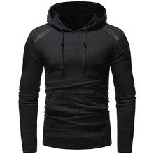 Cotton Mens Hoodies 2019 Sweatshirts Outwear Black Streetwear Summer Pullover Men Hoodie H001