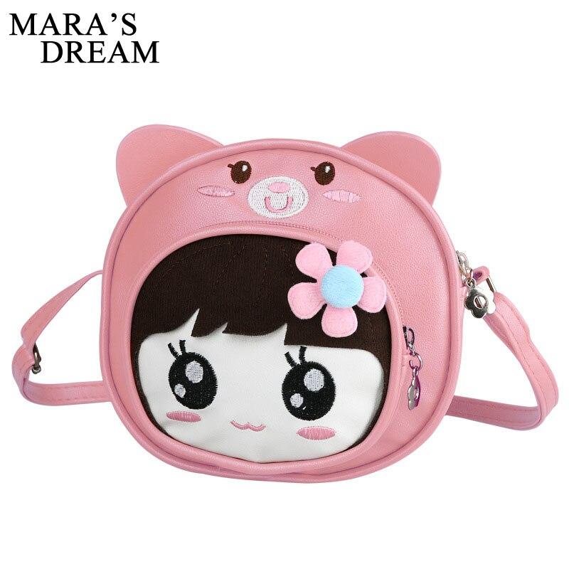 Mara's Dream Women Bag Shoulder Crossbody Bag Sling PU Leather Children Cute Cartoon Print Girls Small Round Phone Messenger Bag все цены