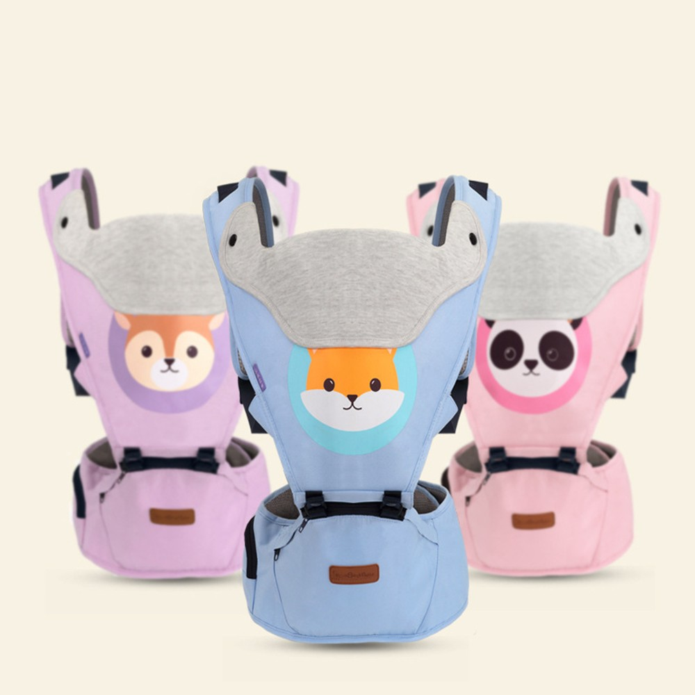 Cartoon Ergonomic Baby Carrier Infant Hipseat Baby Sling Front Facing Kangaroo Baby Travel Carrier Breathable Wrap Hip Seat