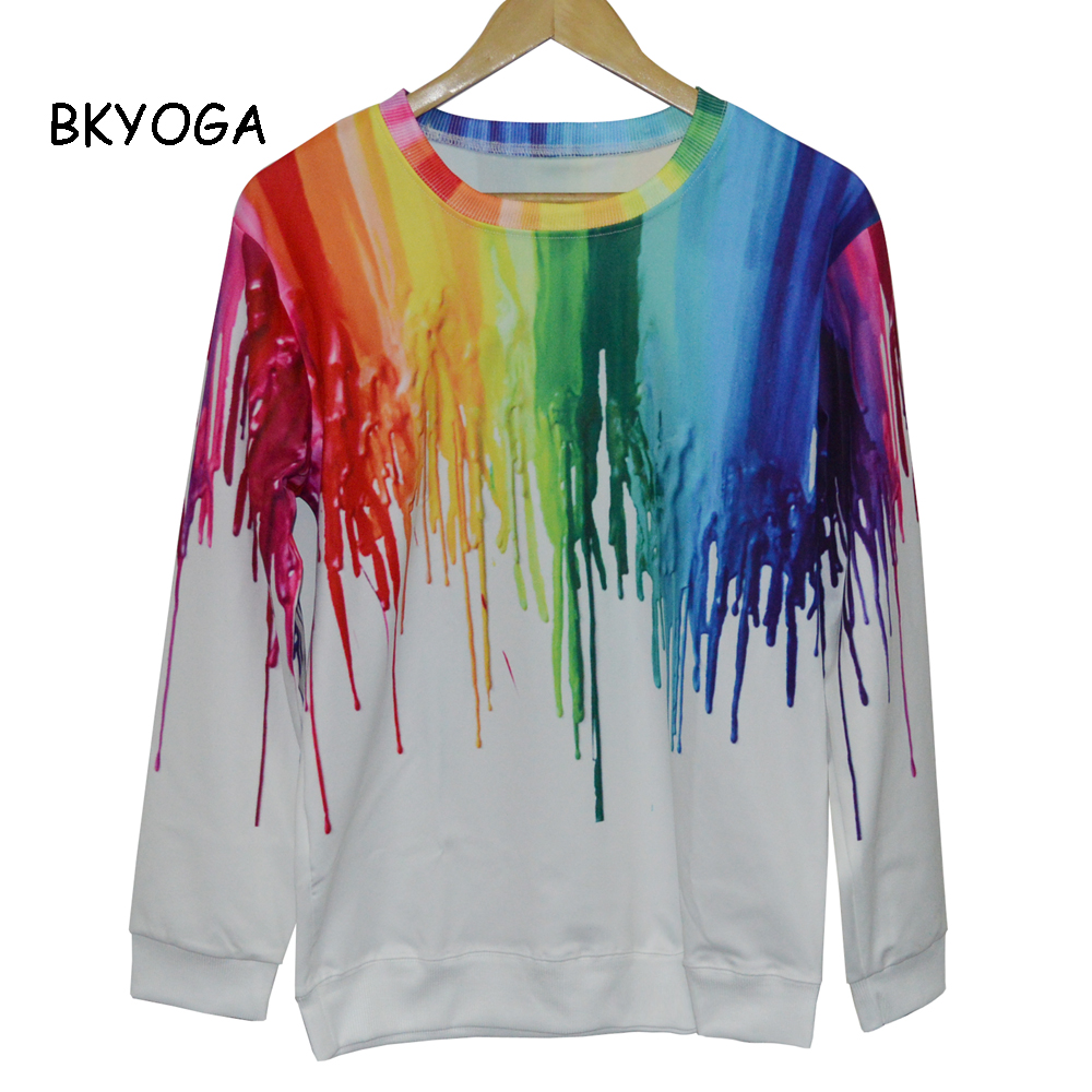 New funny colorful painting 3D print sweatshirt hoodies long sleeve sweat shirts top casual fashion pullovers tops