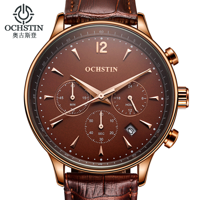 montre homme mens watches top brand luxury ochstin men military sport wristwatch leather quartz. Black Bedroom Furniture Sets. Home Design Ideas