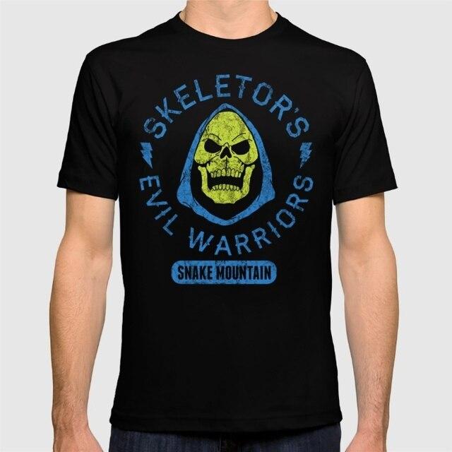 Spring Limited Men T Shirts Bad Boy Club Skeletor S Evil Short
