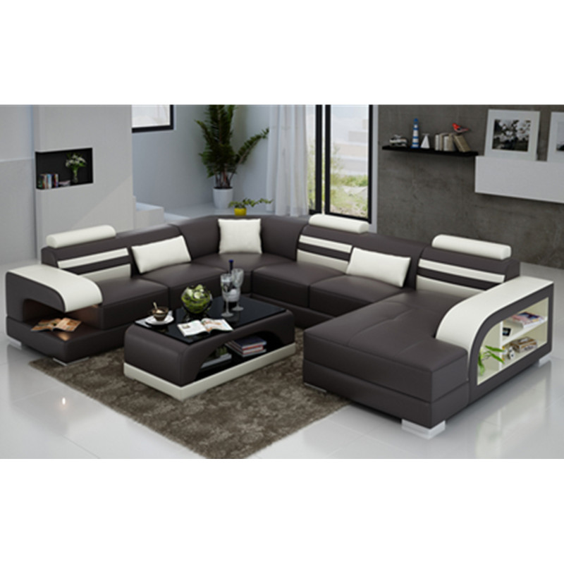 Special gift for boss Convertible Sectional Sofa Espresso Faux Leather
