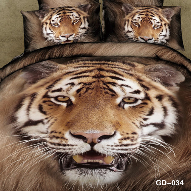 couvre lit tigre 3D Tigre ensembles de literie couvre lit couette housse de couette  couvre lit tigre