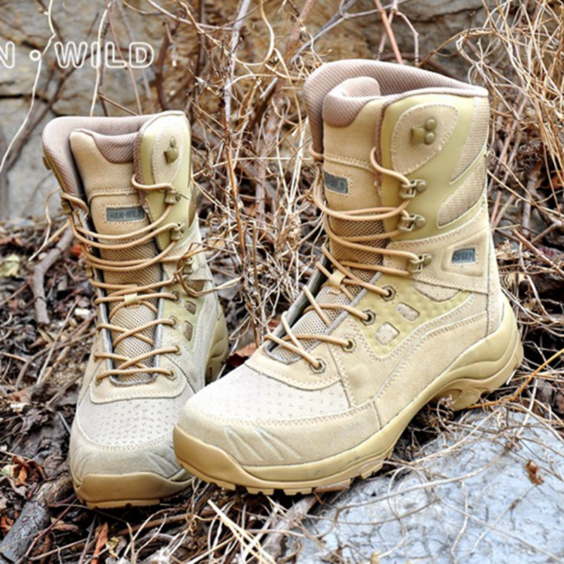 Men's Sneakers Military Tactical Boots Combat Shoes US Army Leather Boots Outdoor Trekking Hiking Shoes