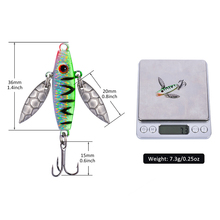 Goture 8PCS/LOT Winter Ice Fishing Lure Artificial Lure Leurre Balancer for Fishing Carp Walleye Pike Perch 7.3g/5.2cm