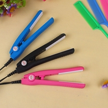 Discount! New Portable Hair Straightener Iron Pink Ceramic Electronic Titanium Straightening Styling Tools