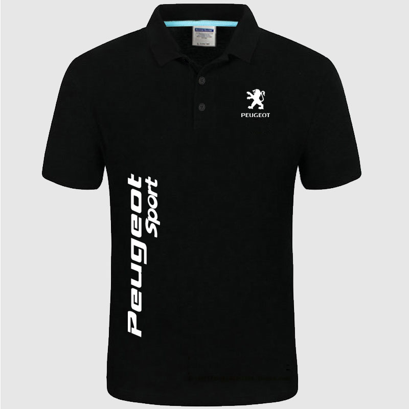Brand New Men's Peugeot logo   Polo   Shirt unisex   Polo   shirt Men Cotton Short Sleeve shirt clothes SizeS- XXXL