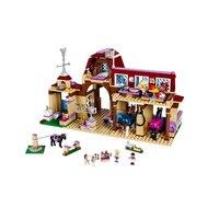 NEW BELA 10562 Girls Friends Heartlake Riding Club Building Blocks 594Pcs Kids Model Bricks Toys With
