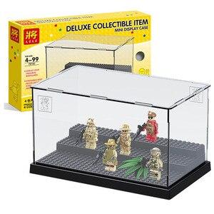 Image 2 - 2019 uyumlu akrilik plastik aksiyon figürleri vitrin kutusu toz geçirmez ekran kutusu loz yapı taşları tuğla oyuncaklar