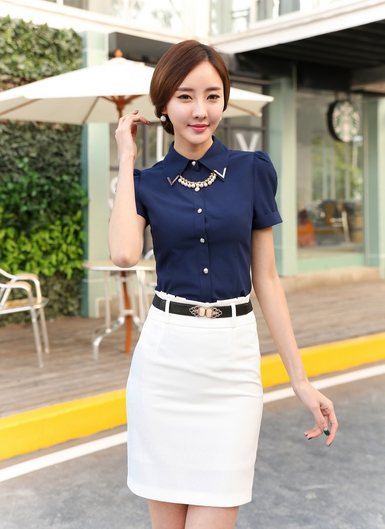 Summer Formal Office Uniform Designs Women Work Wear Suits with ...