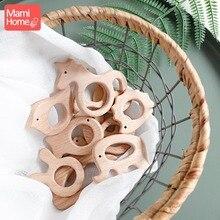 1 шт. деревянный Прорезыватель деревянная подвеска для соски цепочка детские товары животные деревянные пустые грызуны Детские Прорезыватели рождения медсестры подарки игрушки