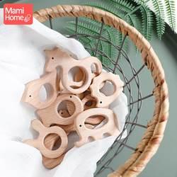 Mamihome 1 шт Деревянный Прорезыватель дерево Подвеска для соску цепи при прорезывании зубов игрушки милая форма животных Еда Класс материалов
