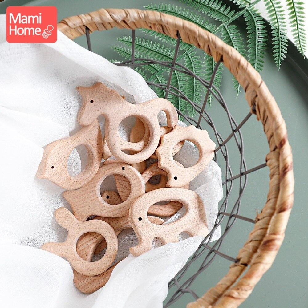 Mamihome 1 шт Деревянный Прорезыватель дерево Подвеска для соску цепи при прорезывании зубов игрушки милая форма животных Еда Класс материалов ...