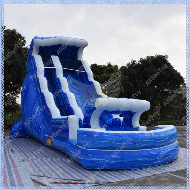 blue marble inflatable water slide inflatable pool slidecommercial quality inflatable wet slide - Inflatable Pool Slide