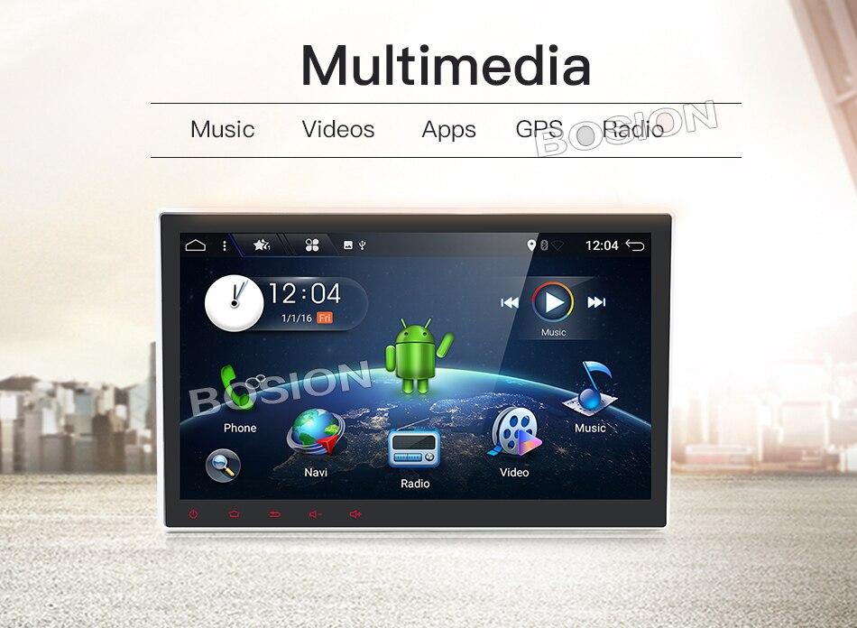 Bosion 10'1 pouces écran Quad core 2 din android 7.1 universel De Voiture Radio Double DVD GPS Navigation Au tableau de bord PC stéréo vidéo wifi
