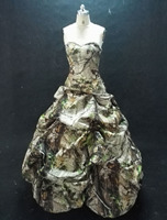 military realtree camo prom dresses 2019 camouflage gowns size 0 custom make real pictures