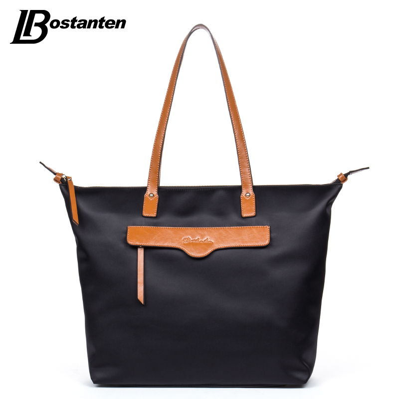 Bostanten Shoulder Bags Nylon Casual Tote European And American Style Red Zipper Ladies Handbags Large Tote Bags Weekend Bag