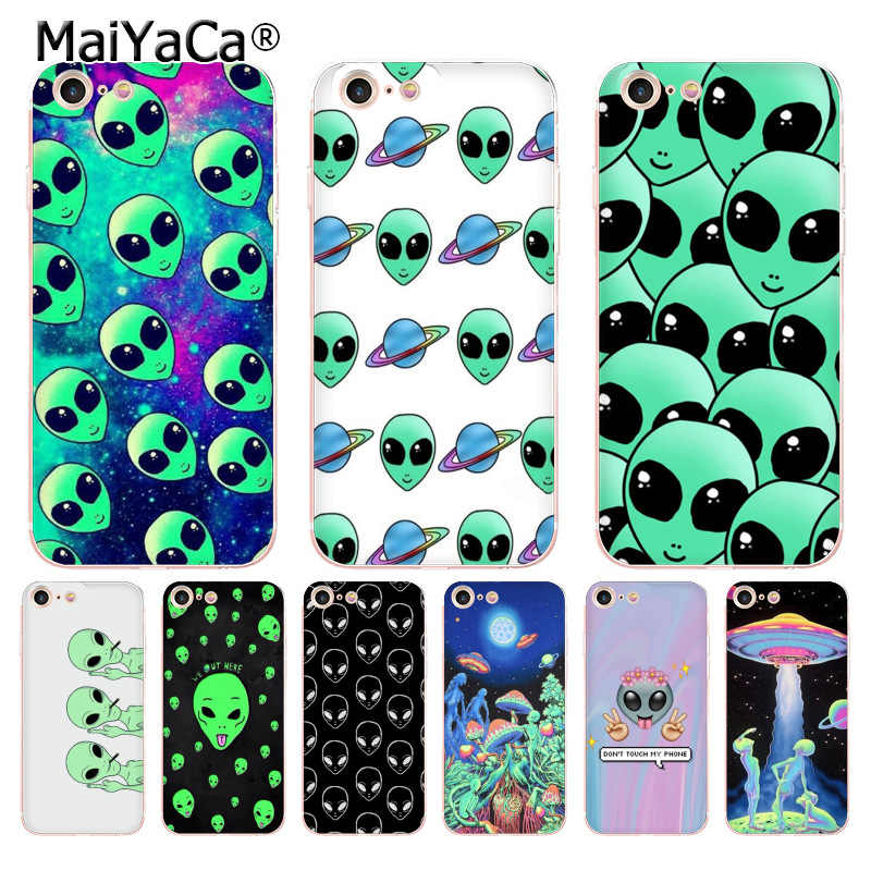 MaiYaCa aliens we heart soft tpu สำหรับ iphone ของ Apple iphone 8 7 6 6S Plus X 5 5S SE 5C 4 4S