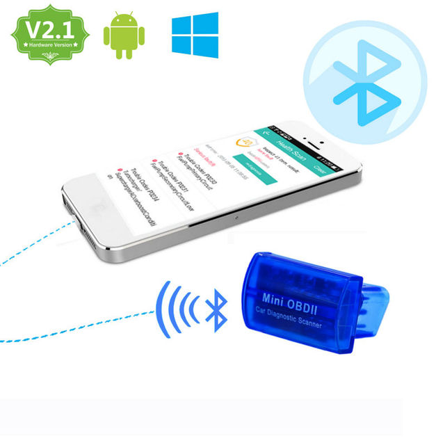 Super Mini Blue Elm 327 V2.1 Bluetooth OBDII Diagnostic