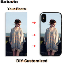 Babaite DIY soft black TPU phone case cover for iphone series Samsung S Note model complete