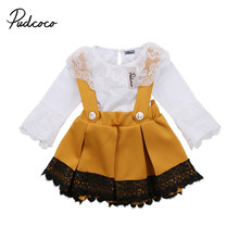 15ee059ee pudcoco Newest Arrivals Hot Infant Newborn Toddler Kid Baby Girls Lace  Jumpsuit Romper Bodysuit Party Bow Skirt Outfits Set