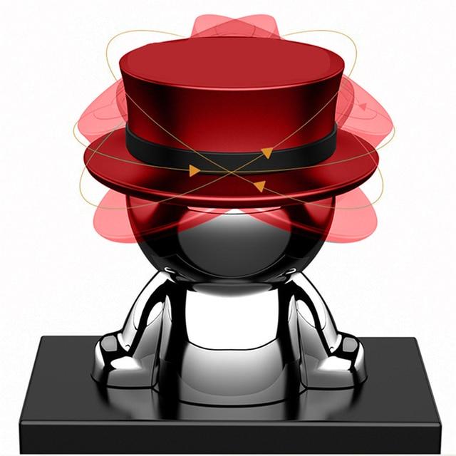 Novel Car Crafts Phone Holder Hat-men Mobile Phone Stand Multi-functional Creative Mobile Accessory DJ003 3
