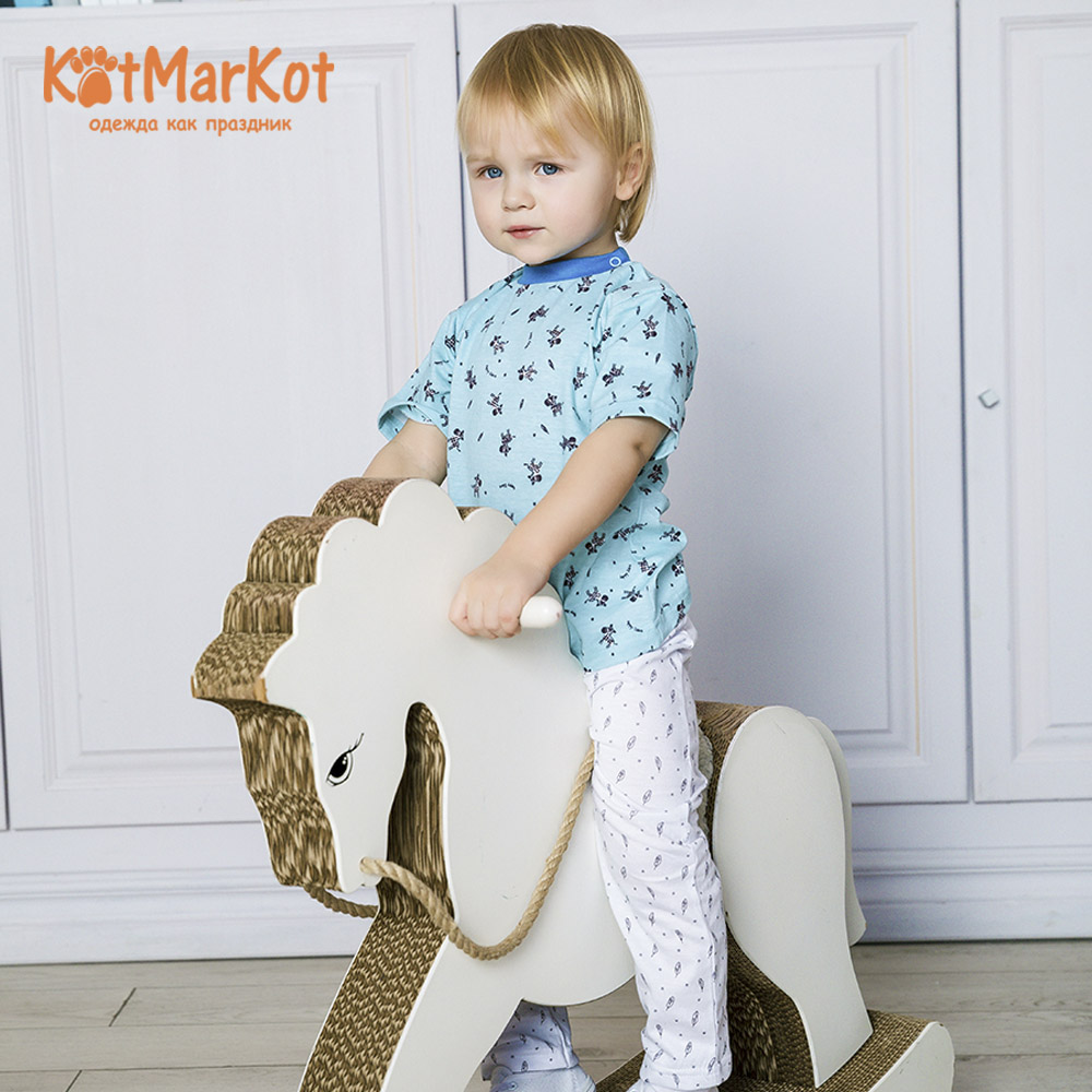 T-Shirts Kotmarkot 7094а for children t-short Jersey tee shirt baby clothes Cotton cat sotmarket Baby Boys Casual Animal t shirt kotmarkot 7958 children clothing cotton for baby boys kid clothes