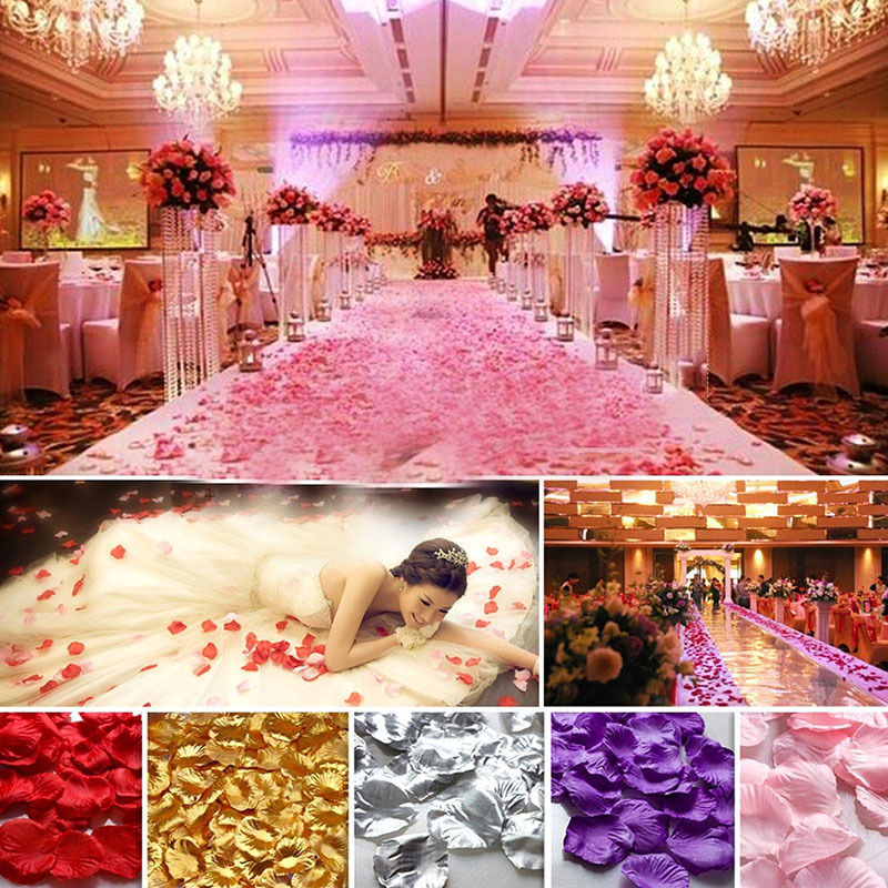 144pcs Non Woven Rose Flower Petals Wedding Party Table Confetti Decorations In Artificial Dried Flowers From Home Garden On Aliexpress Alibaba