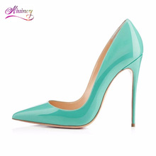2017 Dames Schoenen Hot Sale Basic Pu Thin Heels Shoes High Women Paint Leater Pointed Stiletto