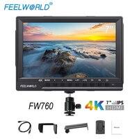 FEELWORLD FW760 7 дюймов Камера поле монитор 4 К HDMI DSLR видео помочь Full HD 1920x1200 ips Экран 1200:1 высокая контрастность Дисплей