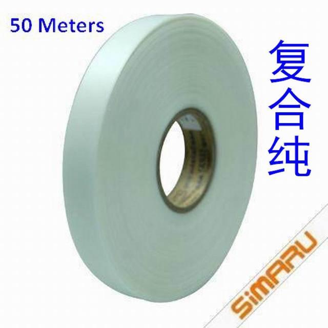 50 метров 0,08 мм ПУ с термоклеем прозрачная водонепроницаемая лента шов уплотнение швейная Кордура Gore-tex ткань наружная одежда