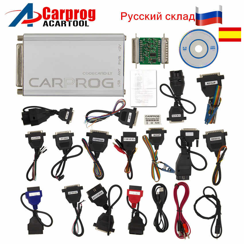 New Carprog V10.05 v8.21 ECU Chip Tunning for car radios,odometers, dashboards, immobilizers repair including advanced function