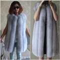 Encryption real fox fur vest female fox fur fox fur vest fur vest medium-long vest