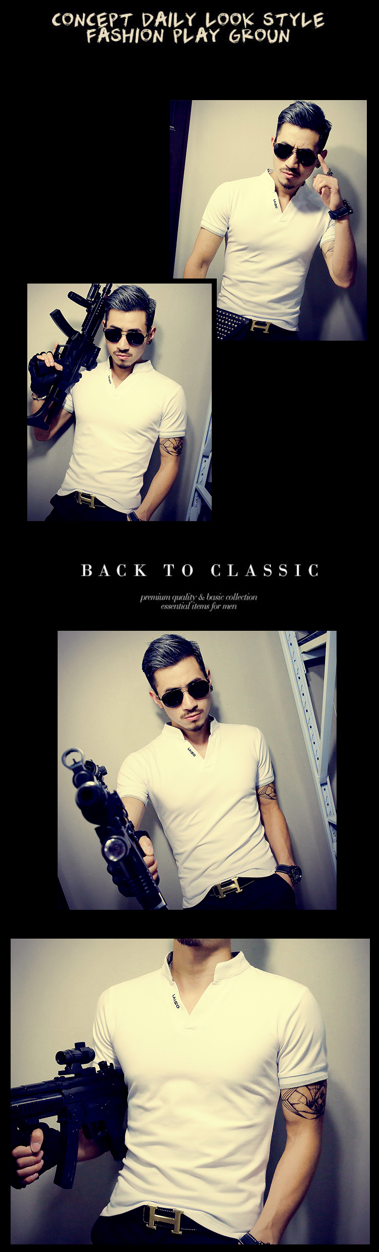 2019 New Arrival Cotton Men Polo Shirt Tops Fashion Brand Plus Size Short Sleeve Black White Polo Shirt Homme Camisa 5XL 12