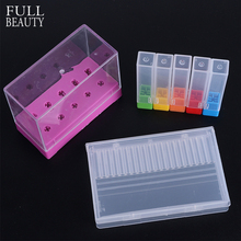 5/10/20 Holes Acrylic Box Stander for Nail Drill Bit Display Electric Machine Burrs Manicure Accessory Nail Art Tools CH867