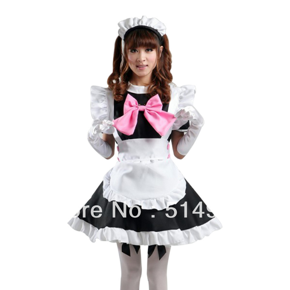 Tomsuit Classic Black And White Cute Cafe Maid Outfits
