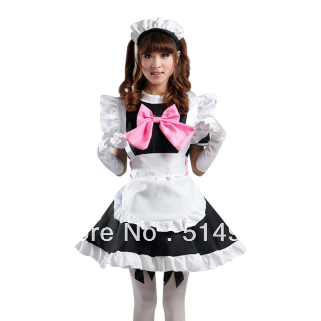 Tomsuit classic black and white cute cafe maid outfits french maid tomsuit classic black and white cute cafe maid outfits french maid costume fancy party dress with solutioingenieria Gallery