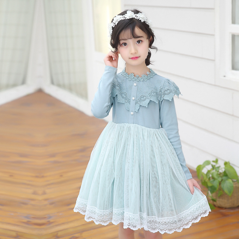 Girls Tutu Princess Casual Dress Printed Puff Long Sleeves For Baby Girls Party Dresses H401Girls Tutu Princess Casual Dress Printed Puff Long Sleeves For Baby Girls Party Dresses H401