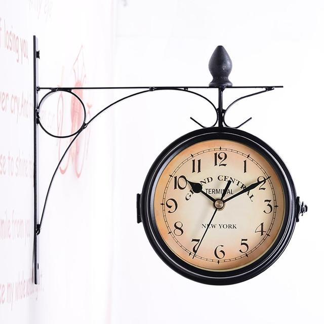 0948d450020 Adeeing Casa Suporte de Dupla Face Relógio Retro Relojoaria Enfeites de  Decoração Sala de estar Relógio