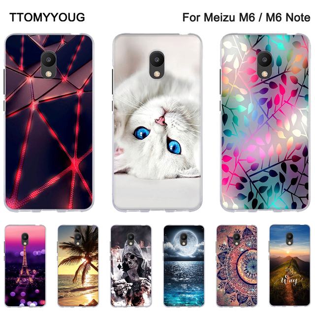 Soft Silicone Case For Meizu M6 Note / Blue Charm Note 6 Back Phone Cover For Meizu M 6 Shells Silicone Fundas For Meizu M6 Note