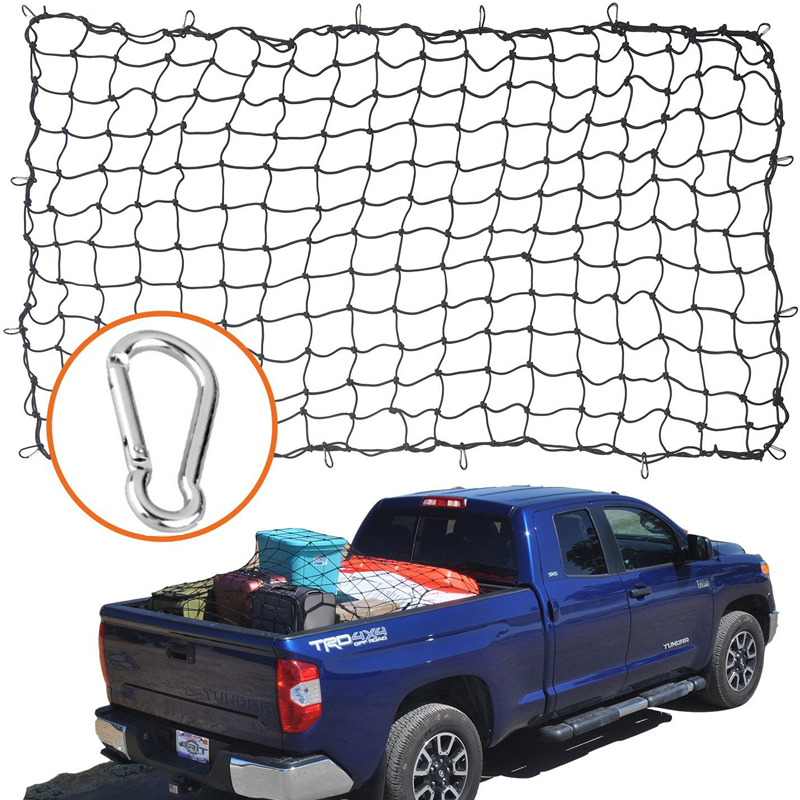 Cargo Nets for Pickup Trucks 4 X 6 Heavy Duty Truck Bed Net Max Stretches to