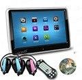 """10.1 """"HD TFT Digital de Pantalla Táctil Ultra-delgado Diseño Del Coche Reposacabezas DVD Playe + 2 IR auriculares Gratis para Los Niños (azul + rosa)"""
