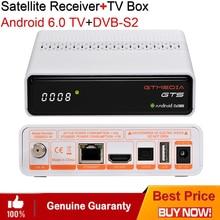 Android 6.0 TV Box DVB-S2 Satellite TV Receiver Amlogic S905D Quad Core 2G 8G H.264 4K Cline CCcam IPTV media Set-Top Box Wifi tronsmart vega s95 meta amlogic s905 4k 2g 8g 2 4 5g dual band tv box