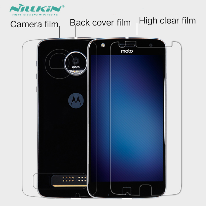 Whole Unit Nillkin Soft PET Screen Protector For Moto Z Play + Back Case Protective Cover Film For Motorola Z Play Droid Phone image