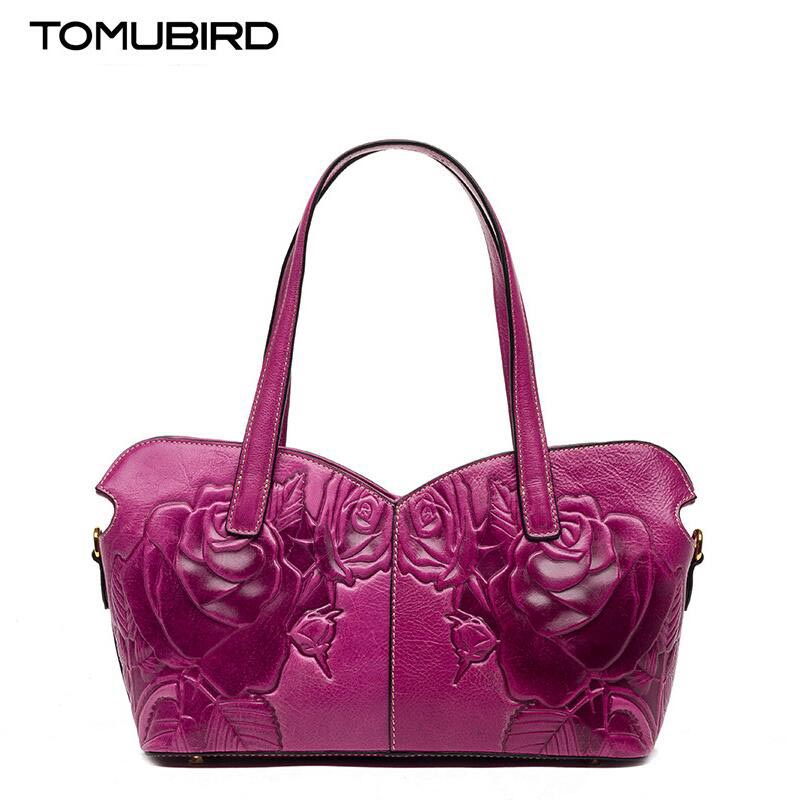 TOMUBIRD 2017 new quality cowhide material famous brand fashion women bag luxury genuine leather handbag shoulder bag tomubird tomubird 2017 new chinese limelight cowhide small square bag high end retro shoulder messenger bag
