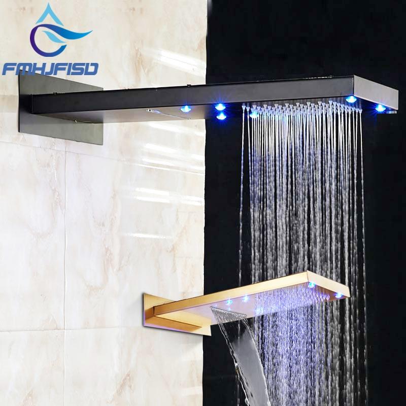 Новый светодиодный масло втирают Бронзовый 22 Дождь Насадки для душа водопад Топ над головой опрыскиватель Золотой светодиодный Насадки дл...