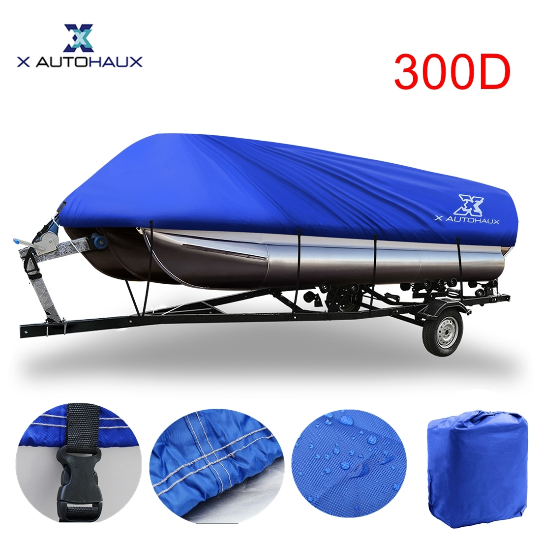 "21-24ft Pontoon Boat Cover Trailerable UV Mainre Grade Waterproof 17/""-20ft"