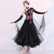 купить Standard Ballroom Dance Dresses Black Women High Quality Waltz Competition Dancing Skirt Adult Tango Ballroom Dance Dress по цене 5659.25 рублей