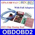 2016 Mais Novo UPA USB Programmer V1.3 UPA-USB Programador de Série Com Adaptadores Completa Auto ECU Ferramenta de Ajuste Chip de 3 Anos de Garantia